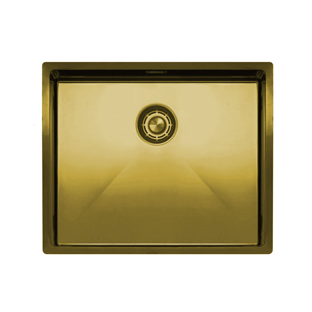 Brass/Gold Kitchen Basin - Nivito CU-500-BB