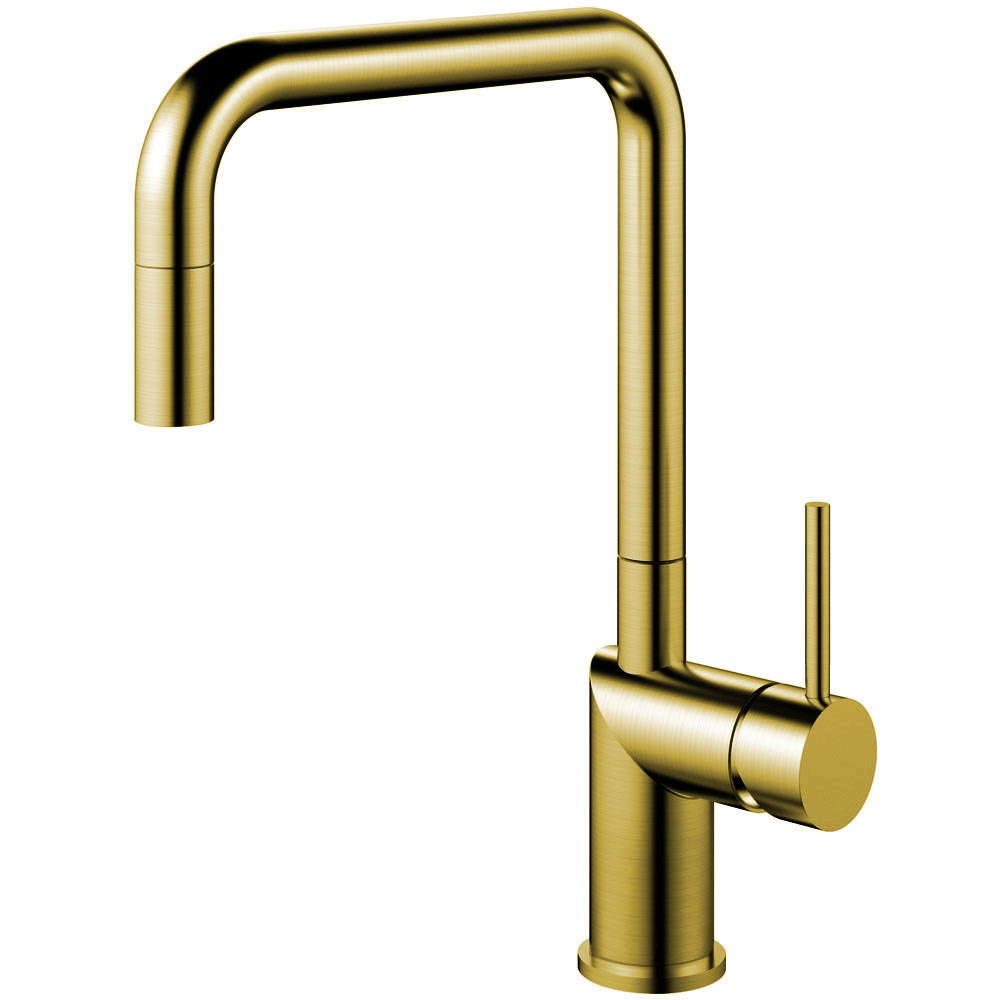Brass/Gold Kitchen Tap Pullout hose - Nivito RH-340-EX