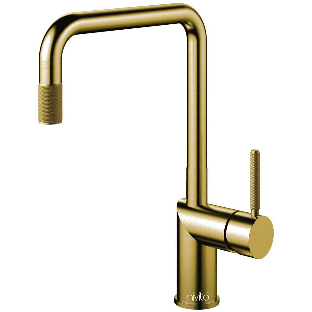 Brass/Gold Kitchen Tap - Nivito RH-340-IN