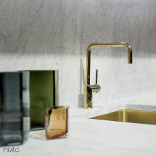 Brass/Gold Kitchen Mixer Tap - Nivito 1-RH-360