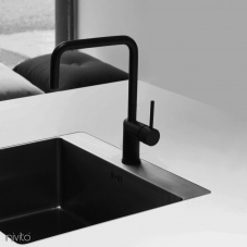 Black Kitchen Mixer Tap - Nivito 6-RH-320
