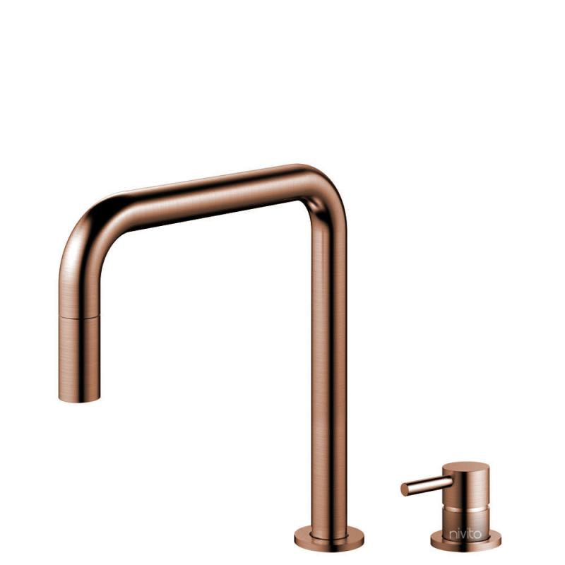 Copper Kitchen Mixer Tap Pullout hose / Seperated Body/Pipe - Nivito RH-350-VI