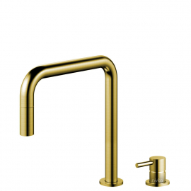 Brass/Gold Kitchen Tap Pullout hose / Seperated Body/Pipe - Nivito RH-340-VI