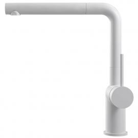 White Kitchen Mixer Tap Pullout hose - Nivito RH-630-EX