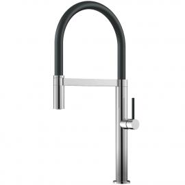 Kitchen Mixer Tap Pullout hose / Polished/Black - Nivito SH-210